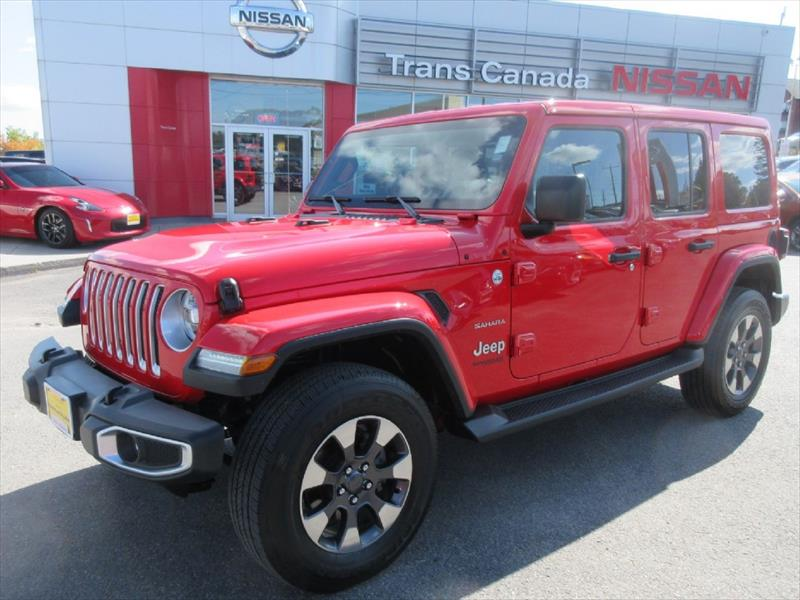 Used 2018 Jeep Wrangler Unlimited Sahara For Sale In Peterborough On By Trans Canada Nissan Used Car City